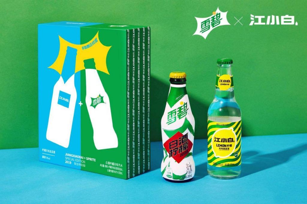 JXB Sprite crossover products with packaging